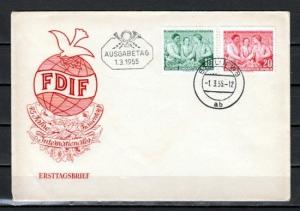 German Dem. Rep. Scott cat. 233-234. Women`s Day issue. First day cover.