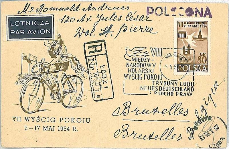 POLAND - CYCLING / PICASSO / DOVES - COVER 1955