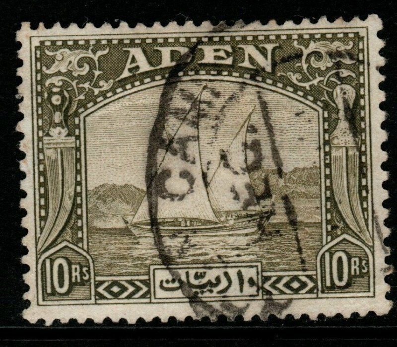 ADEN SG12 1937 10r OLIVE-GREEN USED
