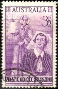 Florence Nighingale & Modern Nurse, Australia stamp SC#284 used