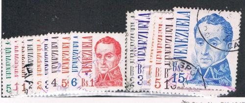 Venezuela 1121-1136 Short Set -1137 Used Bolivar (V0277)