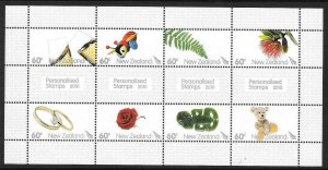 NEW ZEALAND SGMS3237 2010 PERSONALISED STAMPS MNH