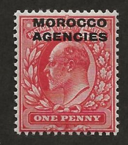 GREAT BRITAIN OFFICES - MOROCCO SC# 202   F/MLH 1907