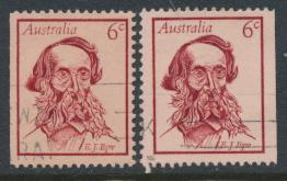 Australia  Sc# 457 E J Eyre Used  Booklet stamps x 2 see details