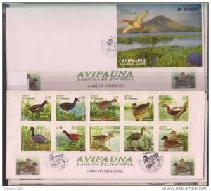 RO) 1999 EL SALVADOR,DUCKS-BIRDS,LAGOON JOCOTAL-FIRST SITE RAMSAR,MIG