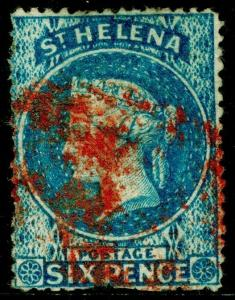 ST. HELENA SG2, 6d Blue, USED. Cat £275.