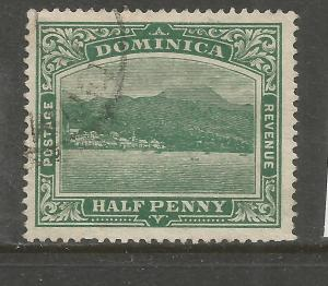 DOMINICA  1908-20  1/2d  PICTORIAL   FU  SG 47