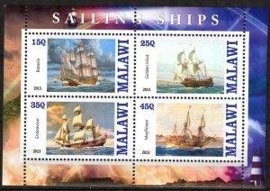 Malawi 2013 Sailing Ships Boats (2) MNH Cinderella !