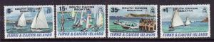Turks & Caicos-Sc#463-6-unused NH set-Racing Yachts-Regatta-1981-Ships-