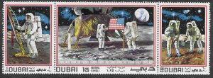 Topical Space Collection - Dubai Set of 3 - Beautiful. Man on the Moon.