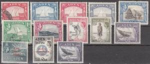 Aden - mixed mint and used group - see description - Catalog Value $68.75