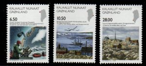 Greenland Sc 524-26 2008 Science stamp set mint NH