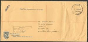 SOLOMON IS 1968 Official Registered cover Honiara to Scotland..............64405