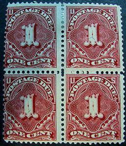 U.S. J45 Mint/MNH Blk/4 AVF-F SCV$265.00