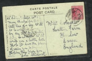 BURMA COVER (PP0906B) INDIA USED IN FORERUNNER 1907 KE 1D ON PPC SEA POST TO UK