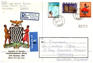 Zambia, Worldwide First Day Cover