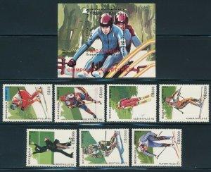 Nicaragua - Albertville Olympic Games MNH Sport Set Bob Sleigh (1992)