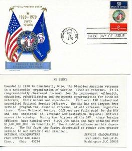 US FDC #1421 DAV, Jackson (7104)
