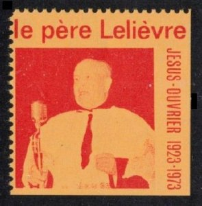CANADA VERY SCARCE OLD POSTER STAMP CINDERELLA LE PERE LELIEVRE 1923-1973