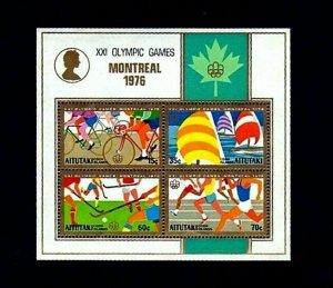 AITUTAKI - 1976 - OLYMPICS - CYCLING - SAILING ++ MONTREAL - MINT - MNH S/SHEET!