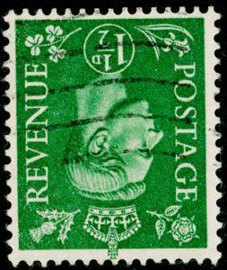 SG505Wi, 1½d pale green, FINE USED. WMK INV