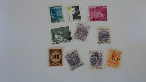 ISRAEL STAMPS MIXED CONDITION. LOT OF 10 STAMPS ( 3
