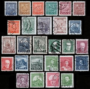 Czechoslovakia Scott 152 // 194 (1929-34) Used F-VF, Cat. Value $7.70 B