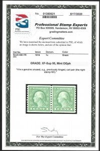 Doyle's_Stamps: PSE-95 Certed 1916 1c Coil Pair