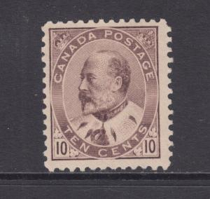 Canada Sc 93 MLH. 1903 10c brown lilac KEVII, Scarce