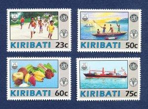 KIRIBATI - Scott 595-598 - FVF MNH - FAO  WHO   UN  - 1992
