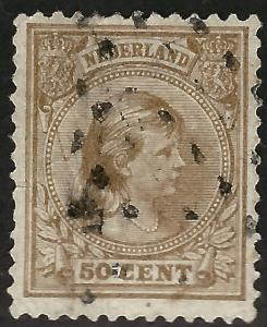 Netherlands  #49 Used F-VF hr light creases....Chance to bid on a real Bargain!