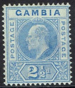 GAMBIA 1902 KEVII 21/2D WMK CROWN CA