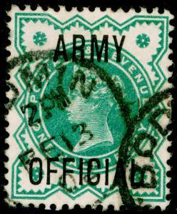 SG O42, ½d blue-green, FINE USED, CDS. Cat £12.