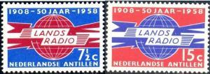 50th Anniv. Neth. Antiles Radio & Telegraph Adm, Neth Antilles SC#258-9 Mint set