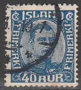Iceland #124 F-VF Used CV $15.00 (S2389)