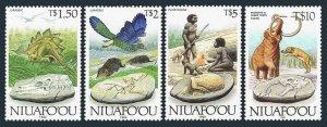 Tonga-Niuafo'ou 119-120,121A,MNH.Mi 150-152,255. Animals of Jurassic,Pleistocene