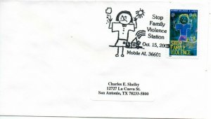 US Pictorial Cancel, Stop Family Violence, 10/15/03, Mobile, AL (5935)