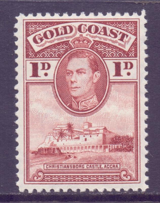 Gold Coast Scott 116 - SG121, 1938 George VI 1d Perf 12 MH*
