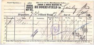AZ100 1893 *HUDDERSFIELD* Guiseley Leeds Mid Railway {samwells-covers}PTS