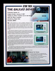 STAR TREK 2011 Pitney Bowes 44 Cent Large Stamp Panel The Galileo Seven #14