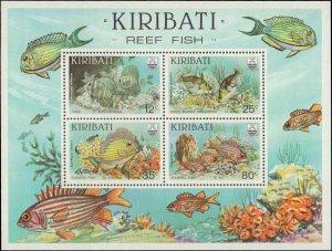 1985 Kiribati #452-455a, Complete Set(5), Never Hinged
