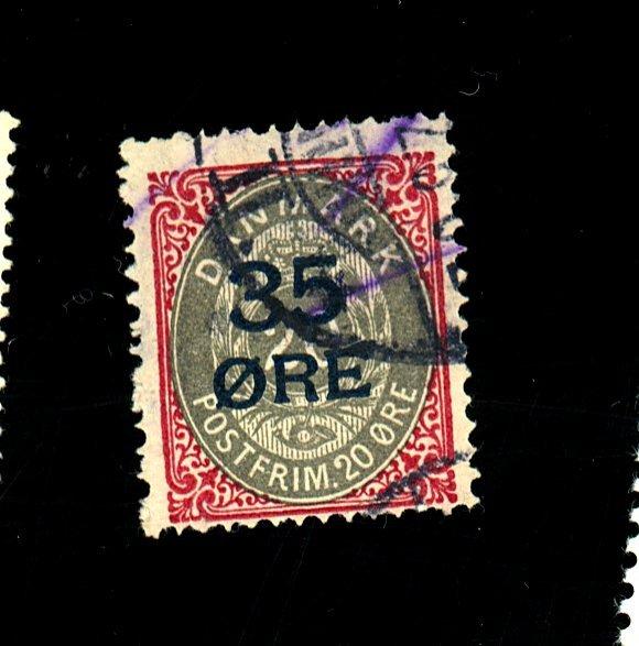 Denmark #80 Used F-VF Cat $80