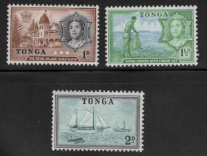 TONGA  Scott 100-102 MH* short set