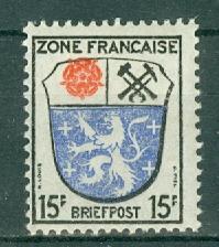 Germany - Allied Occupation - French Zone - Scott 4N7 MNH (SP)
