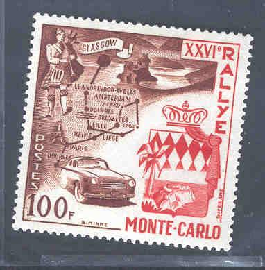 MONACO 365 MNH GLASGOW TO MONTE CARLO CAR RALLY