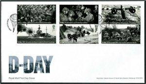 HERRICKSTAMP GREAT BRITAIN Sc.# 3853-58 75th Anniv. D-Day FDC - Southwick