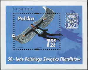 Poland. 2000. 50th Anniversary of Polish Philatelic Association (MNH OG) S/S