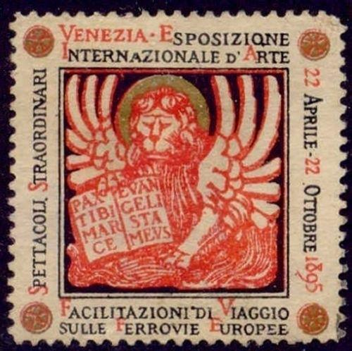 Italy 1895 Venice International Art Expo Poster Stamp