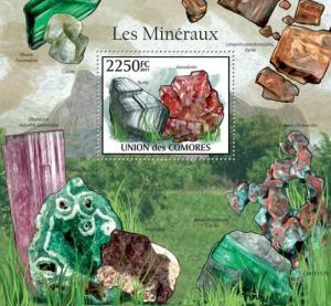 COMORES 2011 SHEET MINERALS III MINERAUX MINERALES MINERAIS MINERALIEN cm11117b