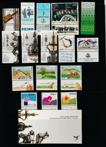 Israel a small MNH lot + a booklet all singles with tabs